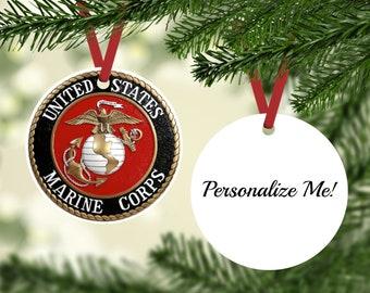 Marine Ornament - Marine Corps Gift - Marine Corps Retirement Gift - Custom Marine Corps Ornament - Military Gift - USMC Ornament
