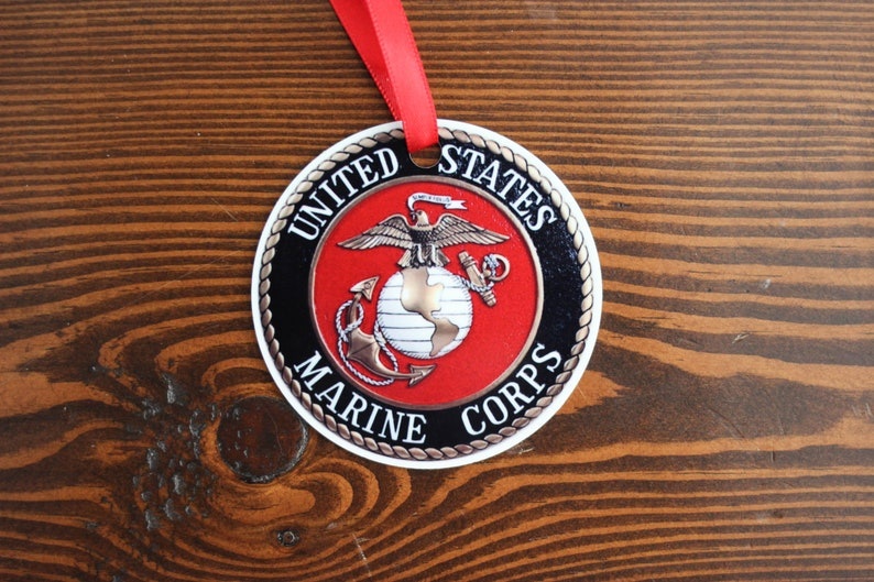 USMC Ornament  Marine Christmas Ornament  Marine Corps Gift image 0