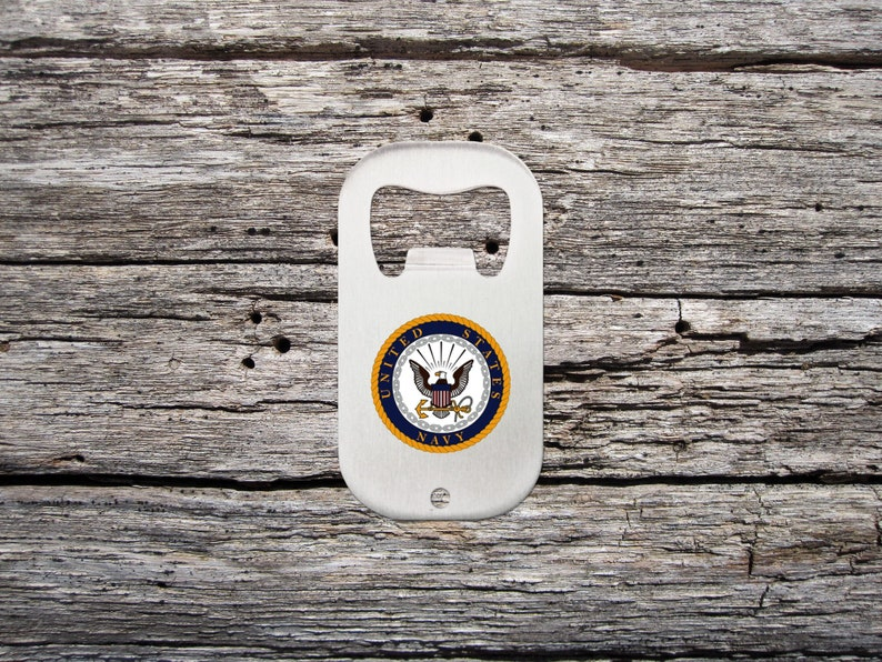 Navy Bottle Opener  Navy Gift Idea  Navy Retirement Party  image 0
