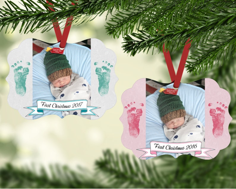 Baby's First Christmas Ornament  First Christmas  Photo image 0