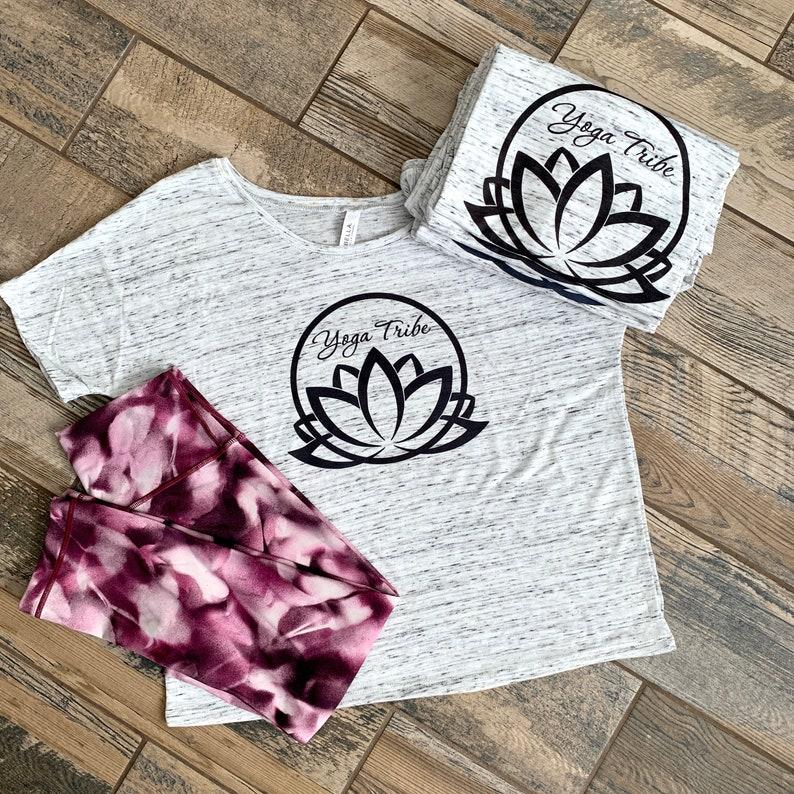 Yoga Tribe Shirt  Yoga Shirt  Lotus Shirt  Yoga Lotus Shirt image 0