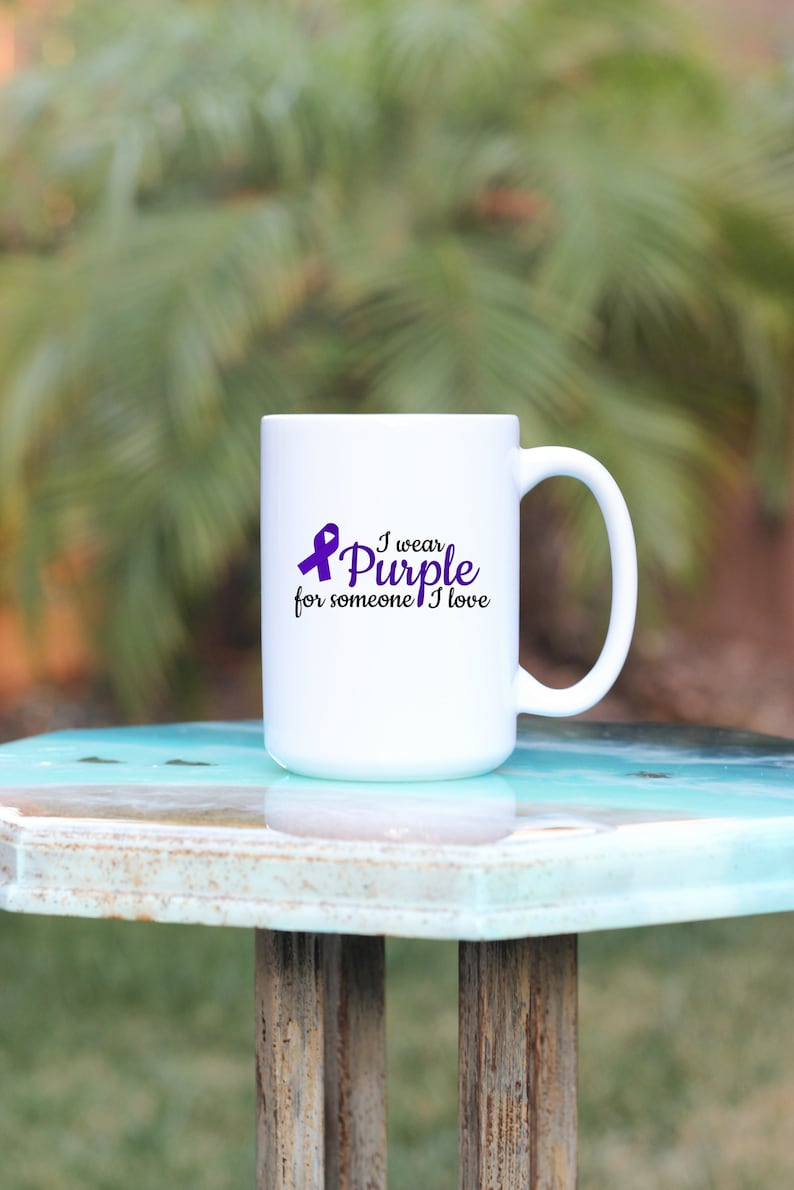 I Wear Purple For Someone I Love  I Wear Purple Mug  image 0