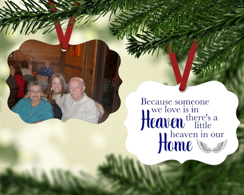 Photo Memorial Ornament  Grandparents Ornament  Keepsake image 0