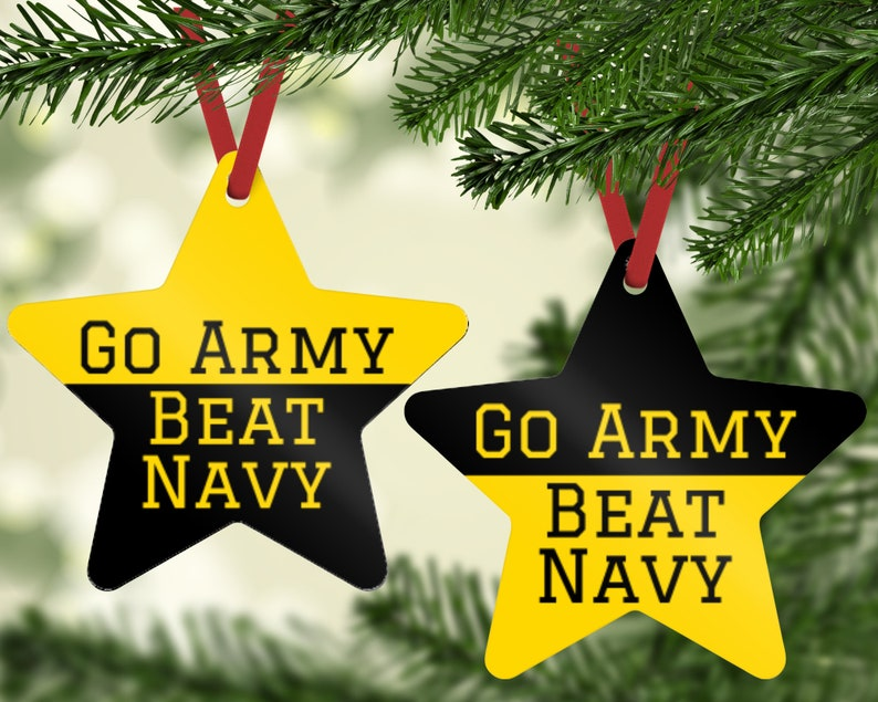 Go Army Beat Navy Ornament  Army Ornament  Military Ornament image 0