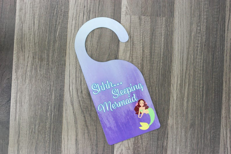 Child's Room Sign   Personalized Door Sign  Sleeping image 0
