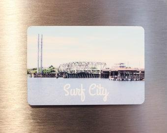 Surf City Swing Bridge Magnet - Topsail Island Magnet - Topsail Swing Bridge - North Carolina Magnet - Keepsake Magnet - Photo Magnet
