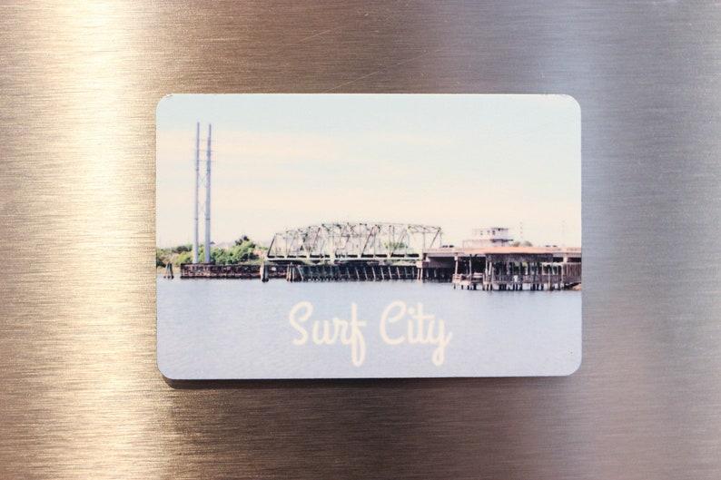 Surf City Swing Bridge Magnet  Topsail Island Magnet  image 0