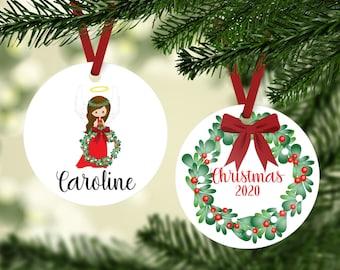 Angel Ornament - Angel Girl Ornament - Christmas Angel Ornament - Girls Ornament - Personalized Ornament - Personalized Angel Ornament