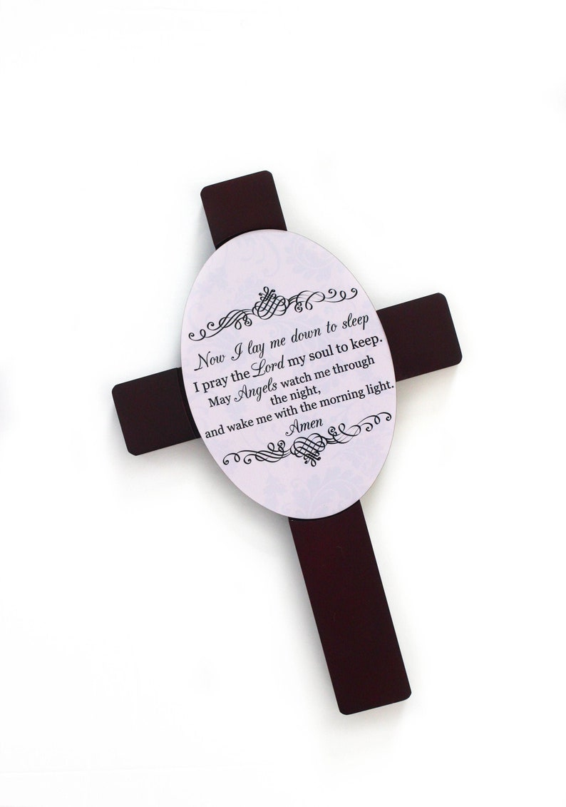 Bedtime Prayer Cross  Prayer Cross  New Baby Gift  Nursery image 0