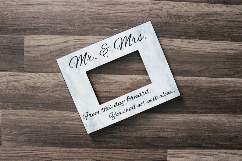Mr. & Mrs. Frame  Wedding Picture Frame  Wedding Gift Idea  image 0