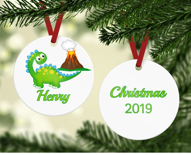 Dinosaur Ornament  Dino Ornament  Dino Christmas Ornament  image 0