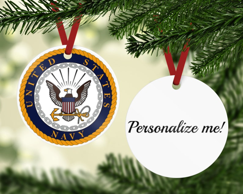 Navy Ornament  Navy Emblem Ornament  US Navy Gift Retired image 0