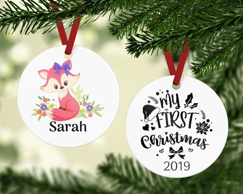 Baby's First Christmas Ornament  First Christmas  Baby image 0