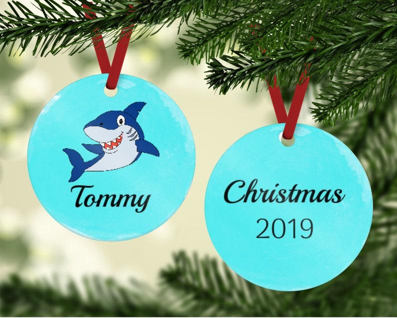 Shark Ornament  Ornament With Shark  Great White Shark image 0