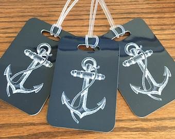 Anchor Luggage Tag - Nautical Luggage Tag - Custom Luggage Tag - Custom Bag Tag - Travel Accessories - Luggage Tag - Nautical Bag Tag