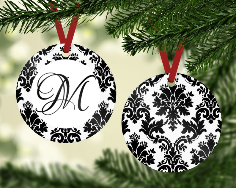 Monogram Ornament  Family Ornament  Initial Ornament  image 0