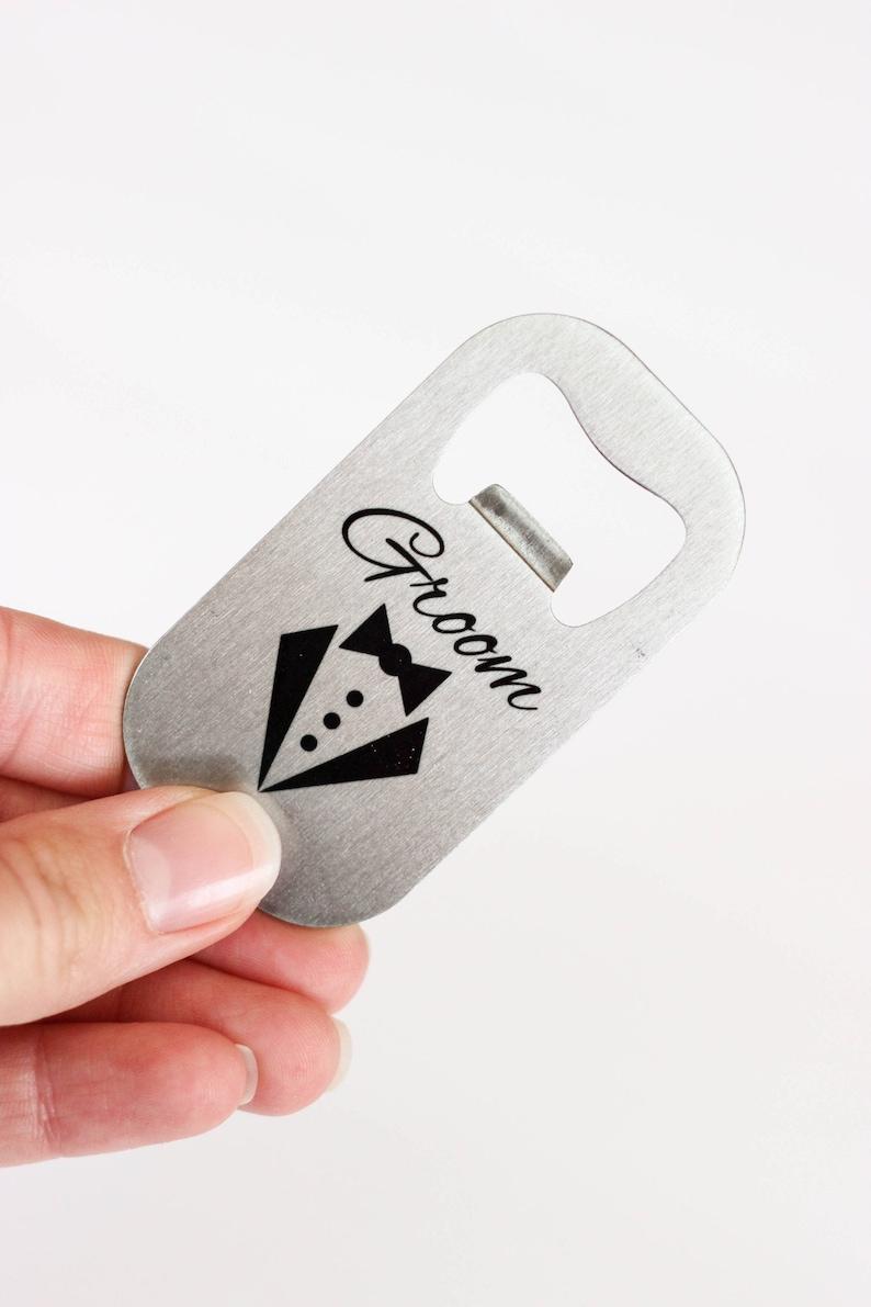 Bridal Party Gift  Groom Bottle Opener  Beer Bottle Opener  image 0