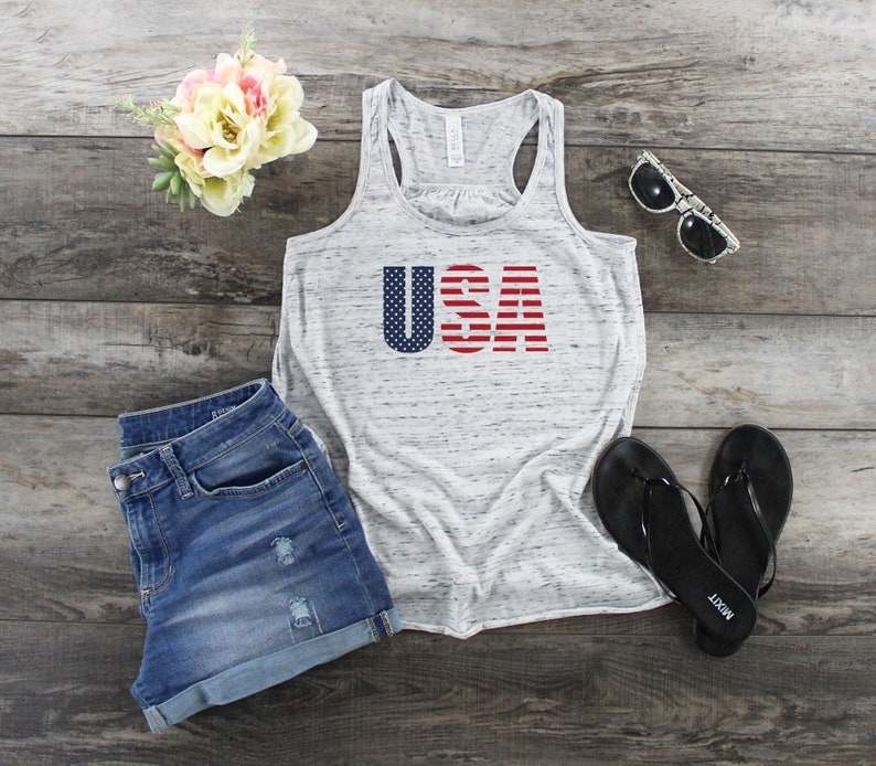 USA Tank Top  Patriotic Tank Top  4th Of July Tank Top  image 0