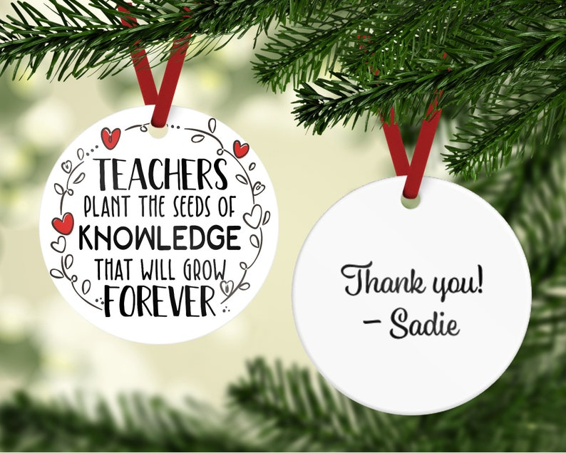 Teacher Gift  Teacher Ornament  Knowledge Ornament  Teacher image 0