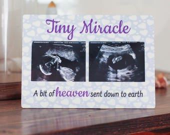 Sonogram Picture Frame - Sonogram Keepsake - Ultrasound Keepsake - New Baby Gift - Baby Shower Gift - New Mom Gift - Pregnancy Keepsake
