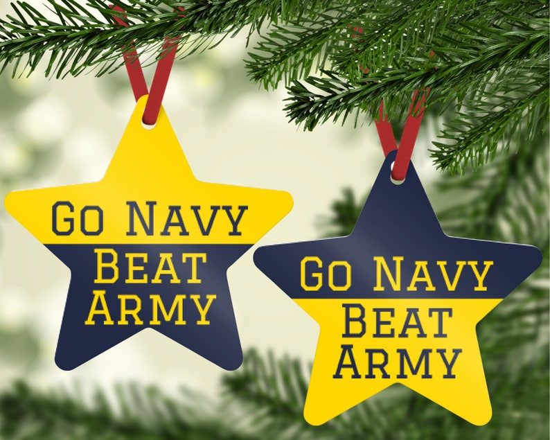 Go Navy Beat Army Ornament  USNA Ornament  Navy Ornament  image 0