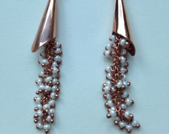 Copper and Pearl Hassle Earrings