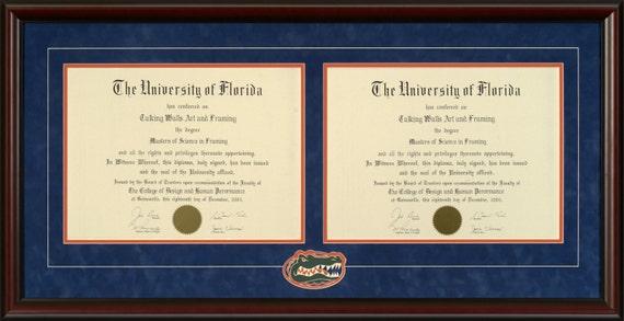 University of Florida Double Diploma Frame | Etsy