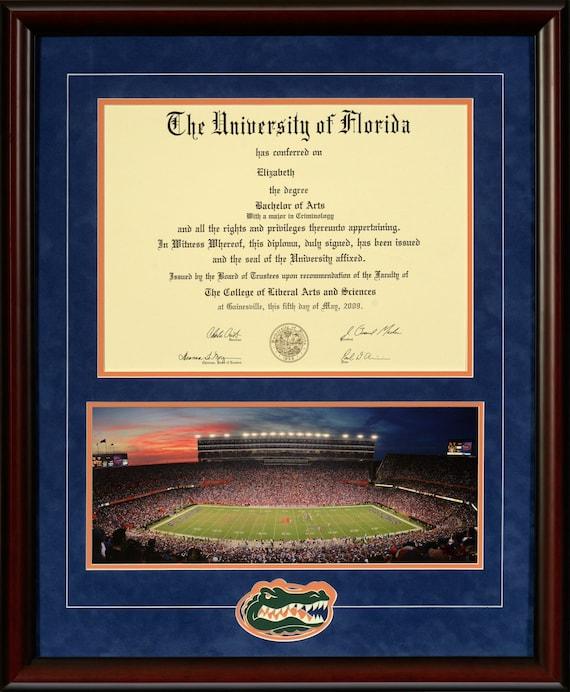 University Of Florida Diploma Frame Ben Griffin Stadium