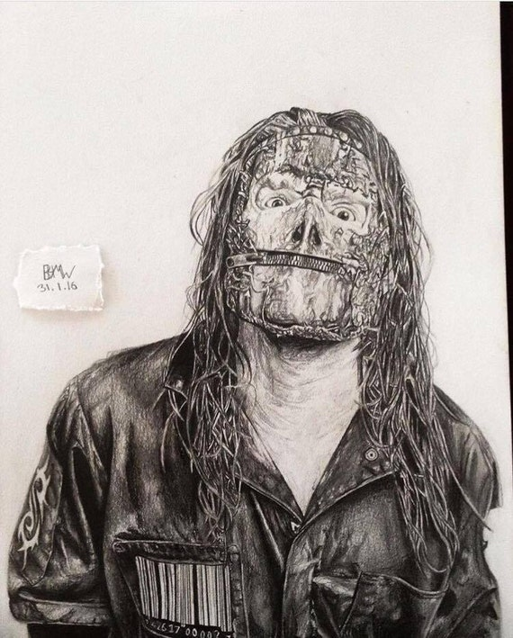 Artículos Similares A Dibujo De Jay Weinberg De Slipknot