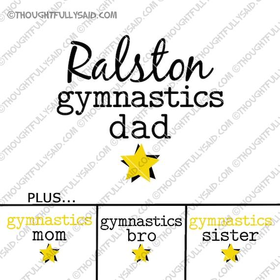 Gymnastics Dad Plus Mom Bro Sister Svg Dxf Eps Png Cut File Etsy