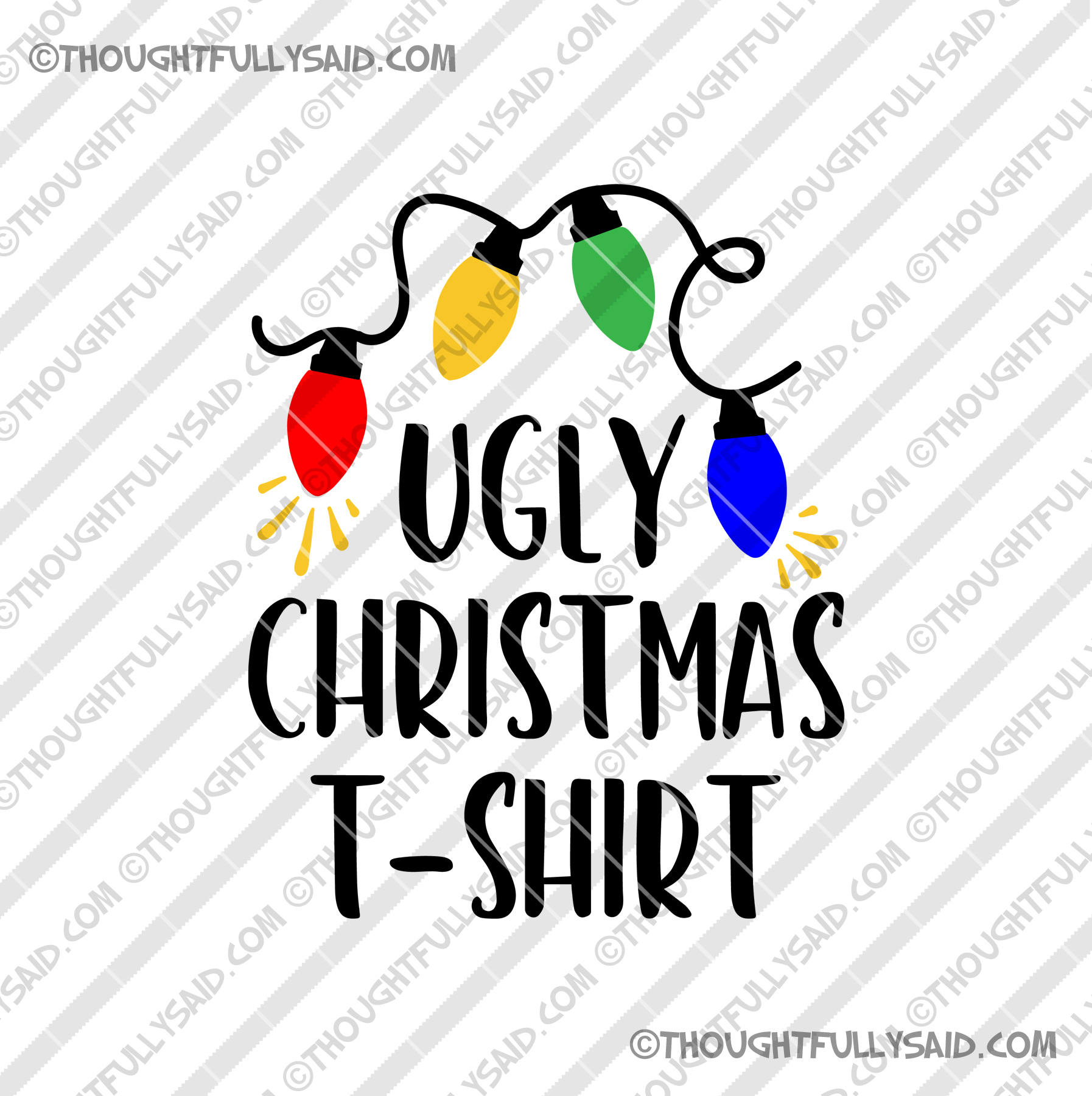 Merry Christmas SVG .Clipart-Clip Art Graphics Personal Commercial Use,svg dxf png jpg eps files design for t shirt Too Cute To Wear Ugly