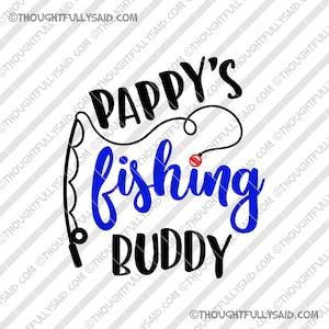 Grandpas Fishing Buddy SVG DXF Graphic Art Cut Files