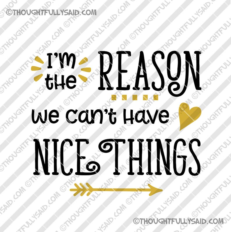 fe3408c01 Im The Reason We Cant Have Nice Things SVG DXF png eps | Etsy