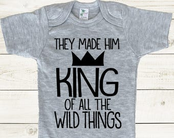 Where The Wild Things Are Bodysuit, wild things onesie, wild things bodysuit, where the wild things are onesie, wild things baby shirt