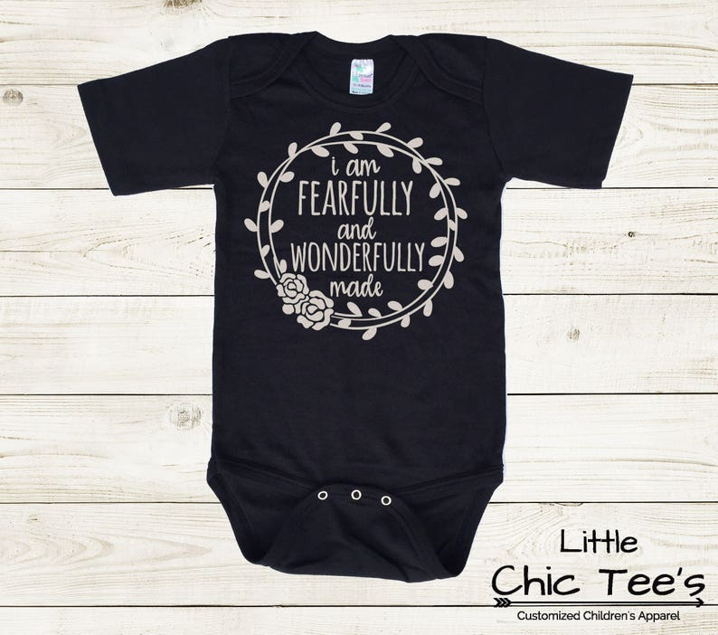 Trendy Baby Girl Clothes Fearfully And Wonderfully Made Baby Etsy