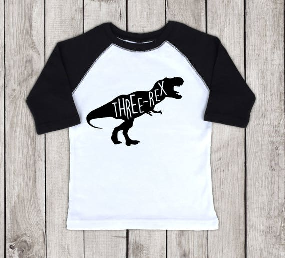 Three Rex Shirt T Dinosaur Birthday For A Year
