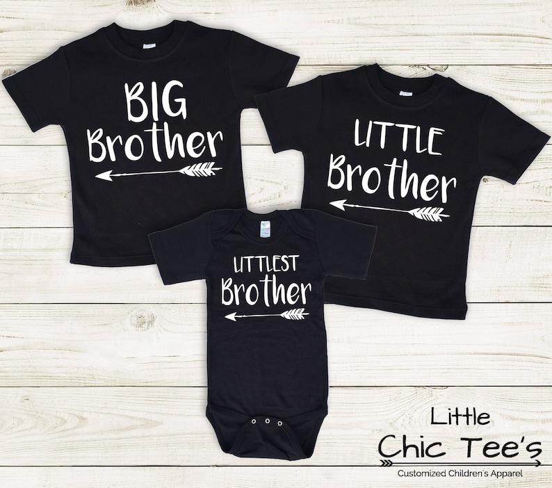 ea7d724f0c Camisas de 3 hermanos coincidencia hermano camisetas 3
