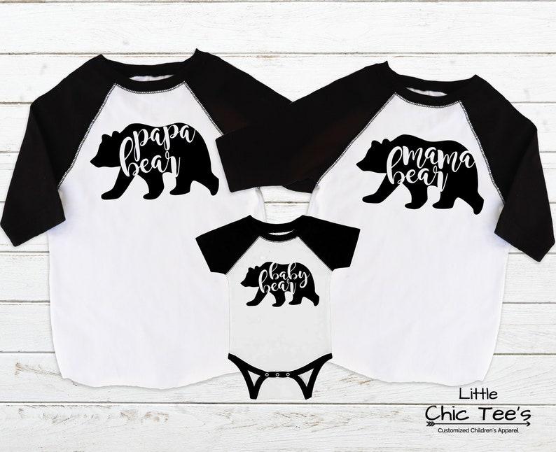 895fc86c Family Bear Shirts Mama Bear Baby Bear Papa Bear Matching   Etsy