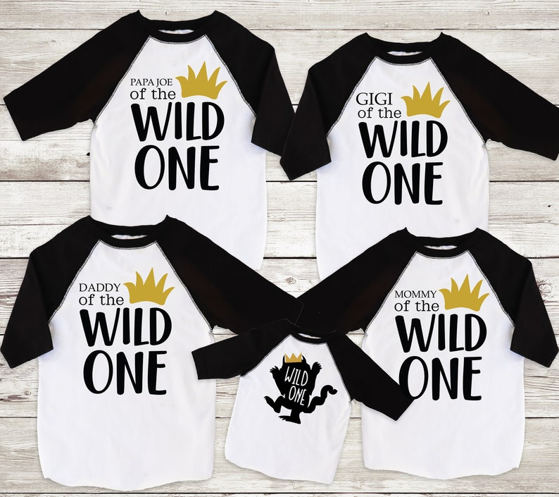 6f6b0571 Family Wild One Shirts Mom of the Wild One Dad of the Wild | Etsy