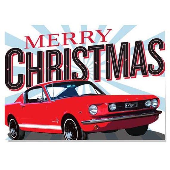 Merry Christmas Mgb Card For Him Dad Granddad Etsy