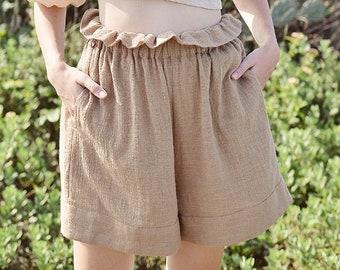 Linen Shorts Women - Linen Shorts High Waist - Shorts for Women