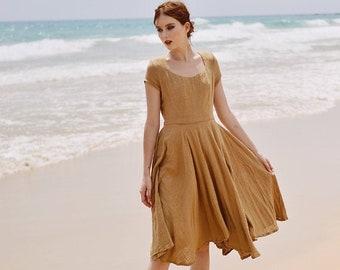 Linen Gauze Dress - Dresses for Women Summer- Gauze Dress Women