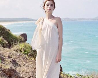 Linen Tunic Dress - Summer Linen Dress - Caftan Moroccan Boho Dress - Flax Clothing