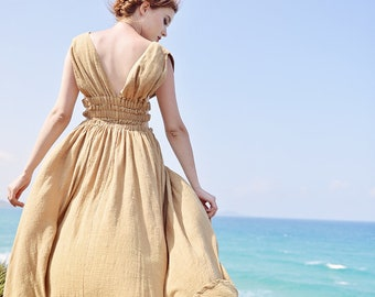 Womens Dresses Summer - Womens Clothing - Summer Linen Dress - Gauze Dress