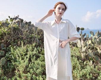 Linen Shirt Tunic - Linen Tunic Tops - Oversized Shirt Women - Linen Shirts Women