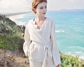 Pajamas Women Set - Cotton Kimono Pajamas Set - Women Cotton PJ's - Organic Cotton Homewear - Linen Clothing Women