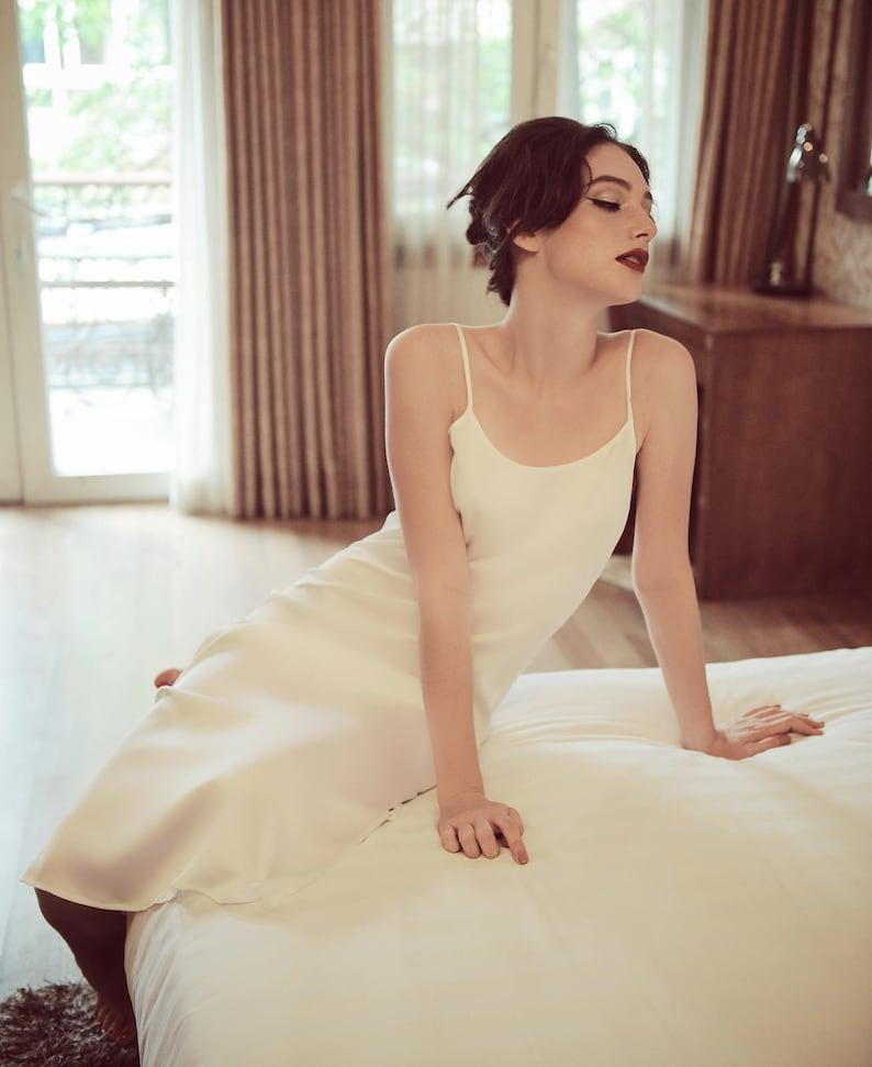 473eb9fc4e Lelasilk 100% Pure Silk Slip  Extremely Smooth  Ivory Bridal