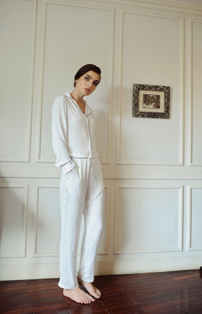 beece67d87 Women Pj s  LelaSilk Pj s Set  Pajamas for Women  Silk Sets  Sets for  Bridesmaids  Sleepwear  Nightgown  Gift For Her