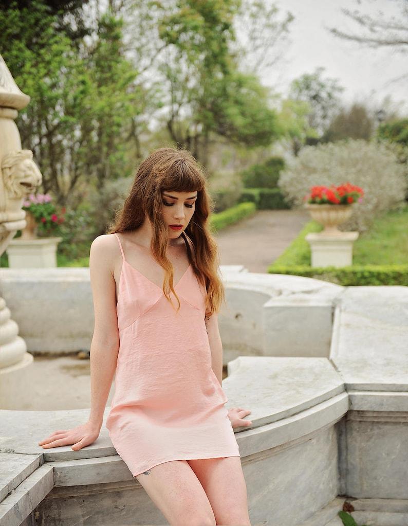 f5a344c047 Lelasilk Baby Doll short Dress  Silk Sleepwear  Silk Slip