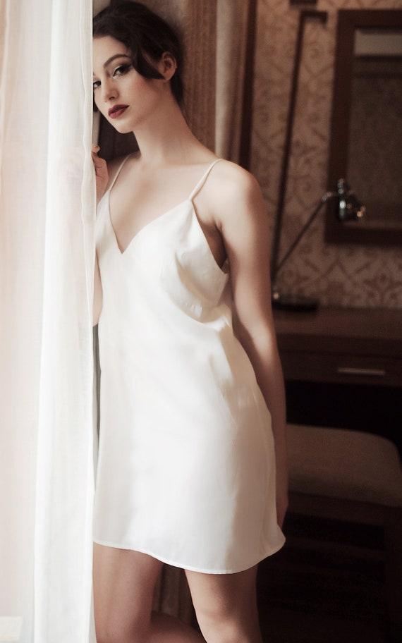 6206647d2 Lelasilk Baby Doll short Dress/ Silk Sleepwear/ Silk Slip | Etsy